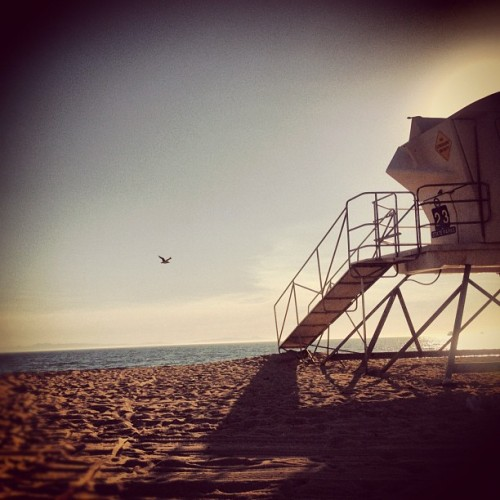 Escaping the heat (Taken with Instagram at Bolsa Chica Tower 23)