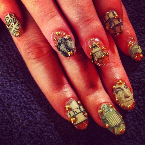Money-cure #nail #nailart  (Taken with Instagram)
