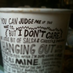 You can judge me if you want to, but I don't care :) (Taken with Instagram)