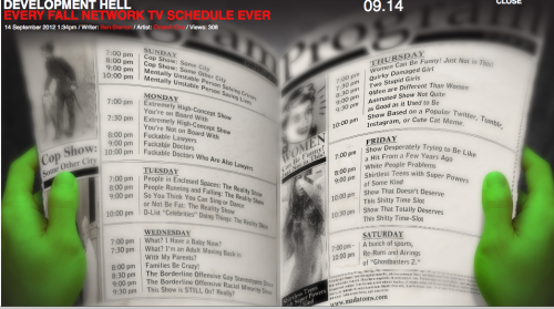 Every Fall Network TV Schedule Ever…something I wrote for Mad Atoms! CLICK THE PICTURE TO CHECK IT OUT!