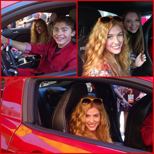 Had a blast taking photos in this #ford #mustang with @ryanochoa and @sammihanratty1 @variety's #powerofyouth!  #poy2012 (Taken with Instagram)