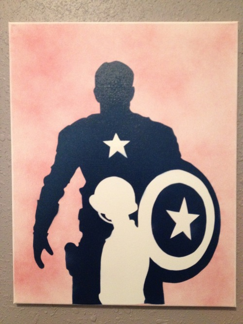 nerfherder916:   Steve Rogers Painted this today