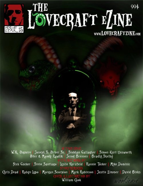 Recent Cover Art for The Lovecraft Ezine (c) wookieart, 2012