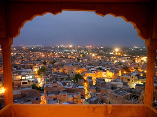 view from a jaisalmer hotel room.