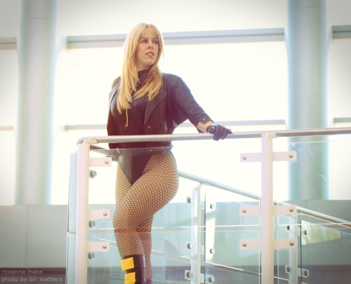 In the mood for a little Black Canary tonight! Roxanna Meta, photographed at WonderCon 2012 by Watters Mark Photography