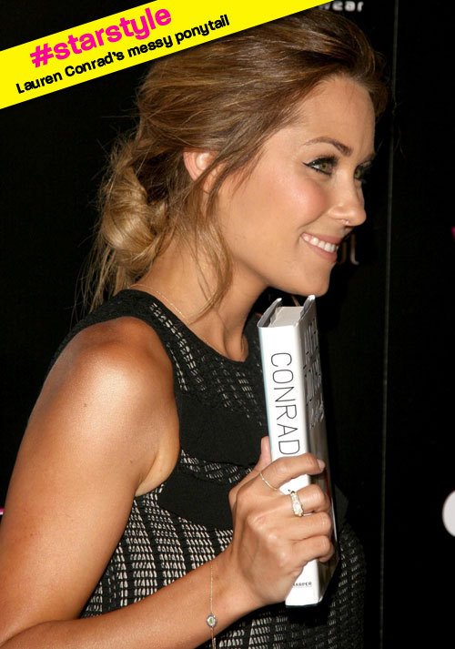 "Lauren Conrad is always a ""do"" in our book! Steal her messy pony with our how-to at girlslife.com."