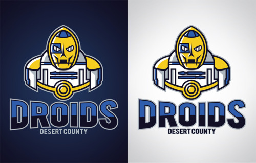 Desert County Droids The last of my Star Wars Sports Logo designs, at least for this first wave (i've still got a bunch more ideas) You can pick them up as prints, t-shirts, and various phone and laptop accessories at Society6… www.society6.com/wanderingbert Use this link by Sunday to get free shipping on any of my products! http://society6.com/wanderingbert?promo=c9d757