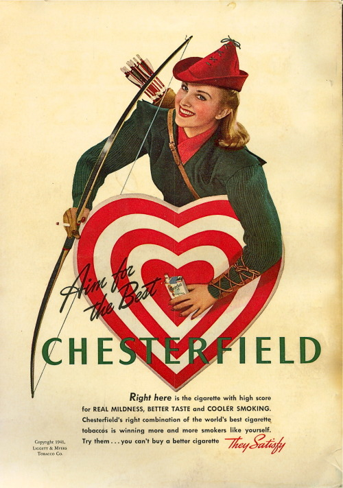 Chesterfield cigarettes, 1941