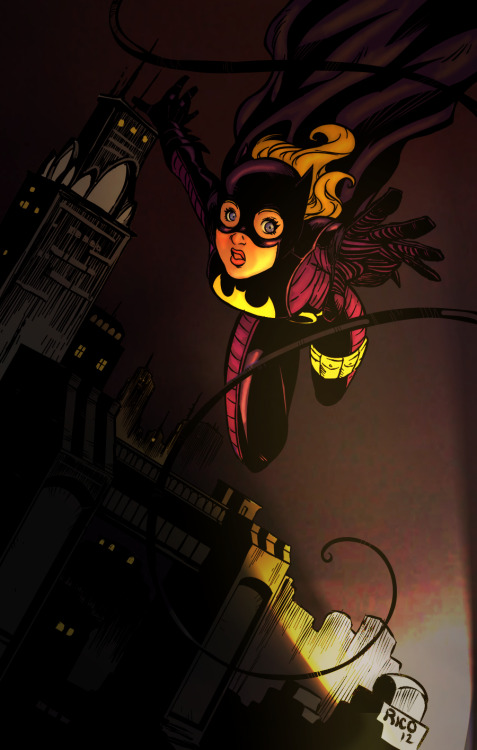 gothambeat:  maximiliani:  Colored in this Stephanie Brown Batgirl lineart by Rico, to prove how beautiful his art actually is. Any critiques are welcome on my end, I'm still figuring out coloring. Lighting obviously isn't a strong suit. Oh well. Anyway Rico is an amazing comic artist from Mexico, everyone should check him out and support his work.  I just keep falling in love with this picture.