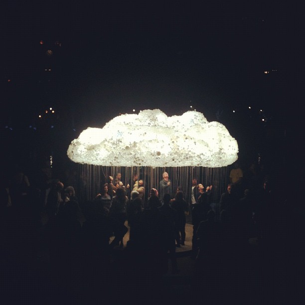#nuitblancheyyc #cloudporn (Taken with Instagram at Olympic Plaza)
