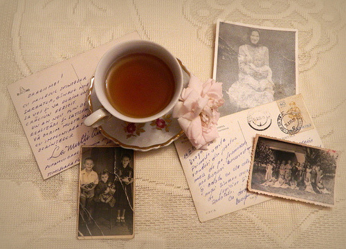 Postcards and tea are magical together. Do it, especially since it's getting colder!  —James