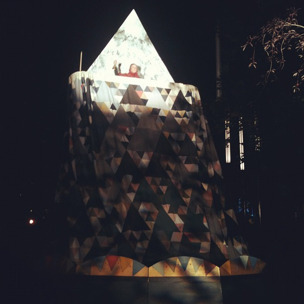 The lady on the moon! #nuitblancheyyc (Taken with Instagram at Olympic Plaza)