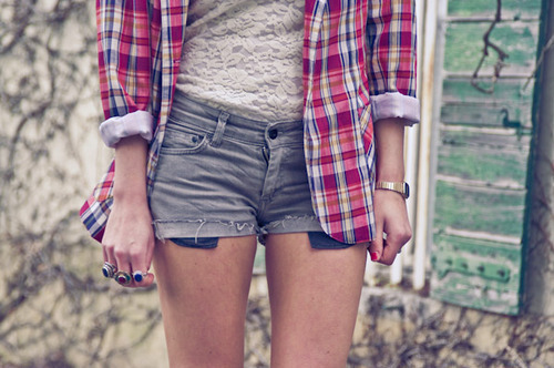 Fashion,Girl,Monkey,Photo,Photography,Plaid,Short,