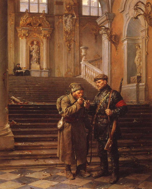 sovietico:  Vladimir Serov: The Winter Palace Captured (1954)