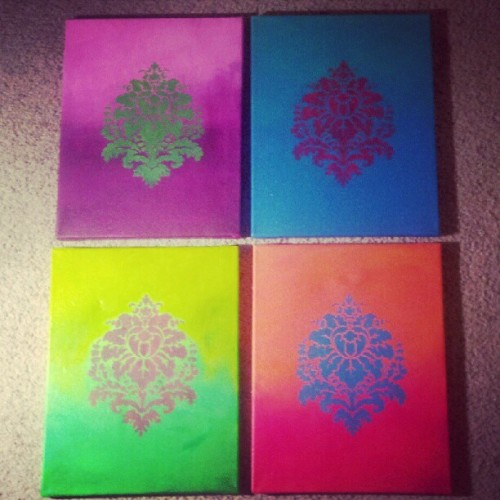 I made awesome art for my living room! #art #painting #colorful   (Taken with Instagram)