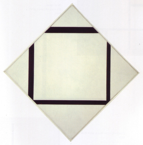 Piet Mondrian, Composition No. 1: Lozenge with Four Lines, 1930