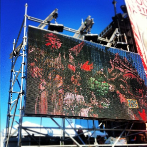 livefastdieawesome:  #GWAR #riotfest #fuckyes (Taken with Instagram)  The guys did amazingly I heard. So happy for them :D
