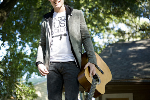 Boy,Fashion,Guitar,Happy,Hipster,Indie,Model,Nature,T shirt,Smile,