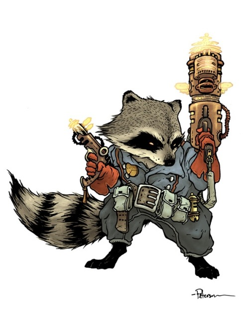 Rocket Raccoon by David Petersen