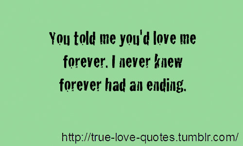 Quotes About Love Ending Tumblr : You Never Loved Me Quotes. QuotesGram