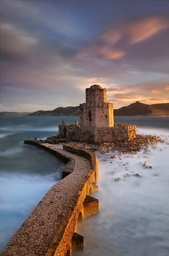 hermajestychopsticks:  The fortress of Methoni in Greece, Prisoners of the Dusk  by Mary Kay on 500px
