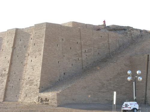 Looks like someone's workout was climbing those Ziggurat steps!