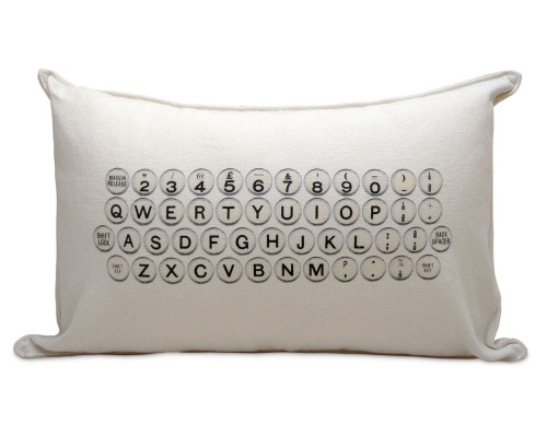 booksdirect:  Typewriter pillow (via Uncommon Goods)