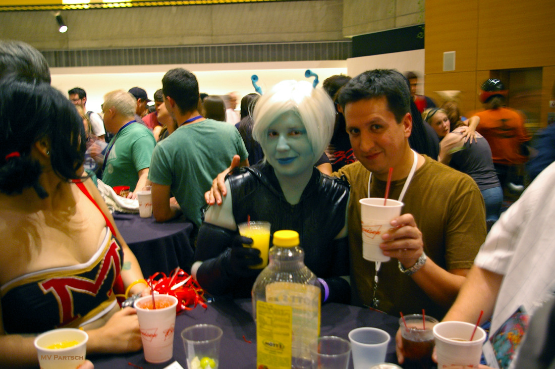 Andorian-Curious. Dragon*Con. Atlanta. 2011. Marriott Marquis: The Pulse Loft.