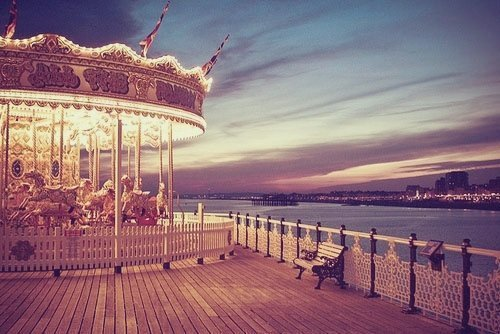 beautiful, carousel, danisdreams, place, sunset - inspiring picture on Favim.com on We Heart It. http://weheartit.com/entry/37496258