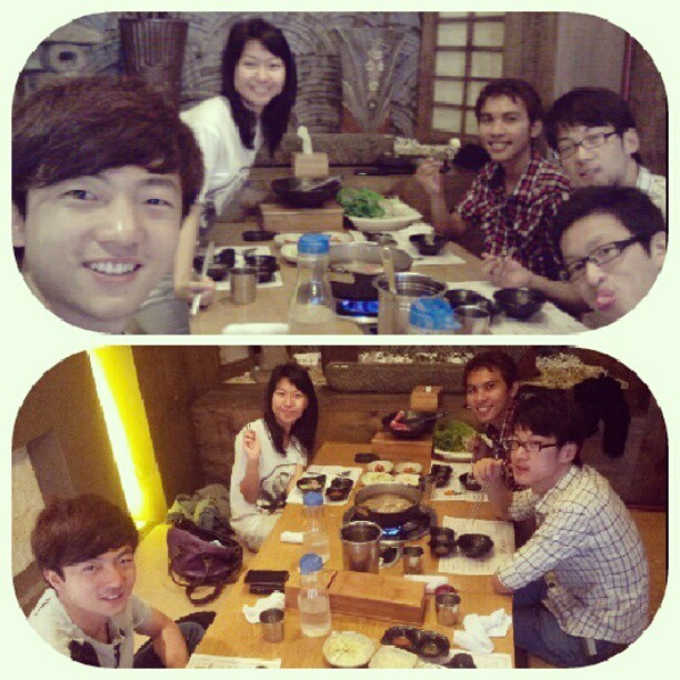 Quality time with quality fatty-food #bestfriends #knu #korea  (Taken with Instagram)