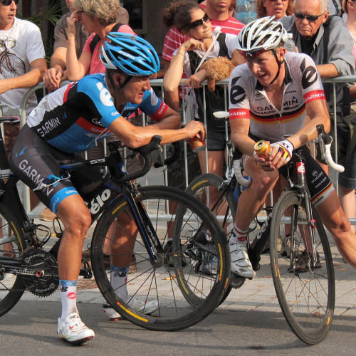 "fuckyeahcycling:  Heinrich Haussler & Fabian Wegmann (by Roxanne King)  ""Cav just came outta nowhere!"""