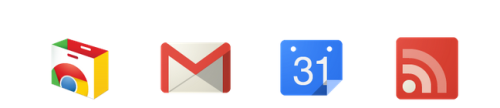 Nice clean google app icons. Edit: Trend forecast: Google and microsoft lead the 'metro' style revoultion for digital design. Skeumorphic stuff and shiny reflections are dead.