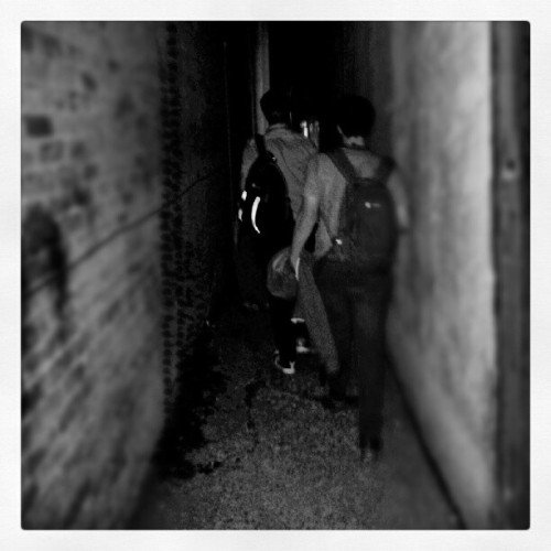Making our way out of the back stage area of The State theatre in Ithaca .The last show of a 9week tour of the USA. Amazing times! (Taken with Instagram)