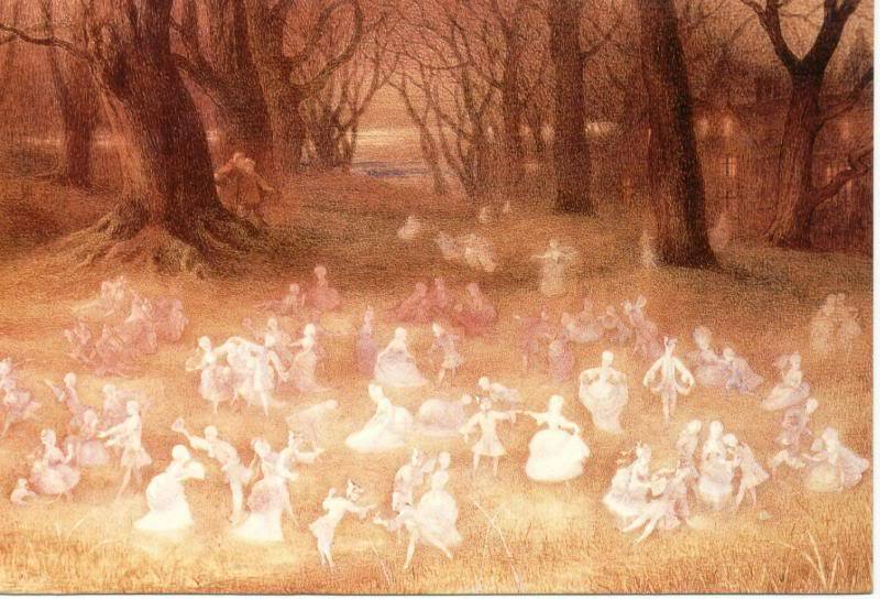 The Haunted Park by Richard Doyle. 1824-1883.