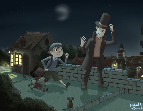 Layton: The Veil of Night by *cyanatar