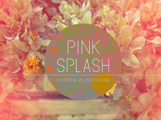 Pink Splash Technique Photo Tutorial | Poppytalk I love the dreamy quality that this technique gives to photos. It's almost like you're viewing it through a dream!