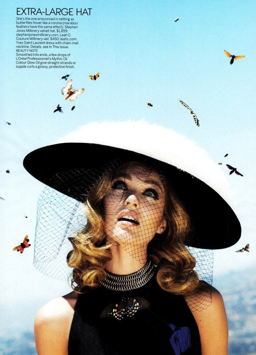 extrasexy:   Candice Swanepoel by Alex Prager for US Vogue October 2012