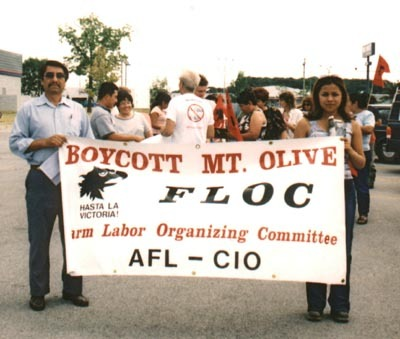 Today in labor history, September 16, 2004:  The Farm Labor Organizing Committee signs a collective bargaining agreement with Mt. Olive Pickle Company and its growers, ending a successful five-year long nationwide boycott.  The contract – which covered workers on more than 1,000 North Carolina farms who had previously been paid piece rate and worked and lived under deplorable conditions – marked the first time a U.S. labor union represented guest workers.