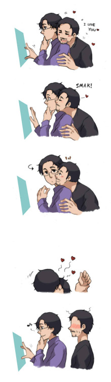 aimabrownie:  That kiss was better~ Via:Zerochan.  The feels…