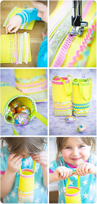 Easter Egg Hunt bags by Craft & Creativity on Flickr.bekas botol air pon boleh ni