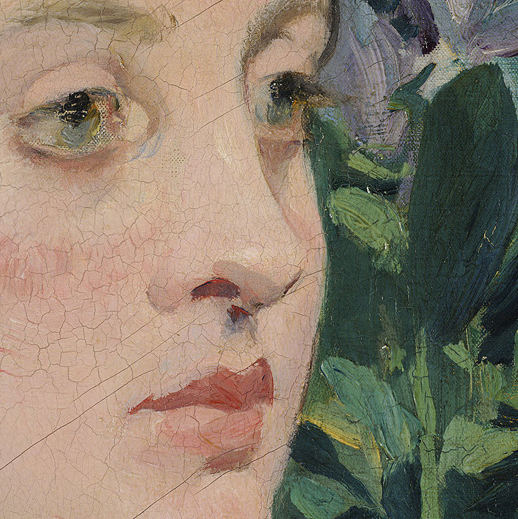 Edouard Manet, In the Conservatory (Detail), (1878 - 1879)