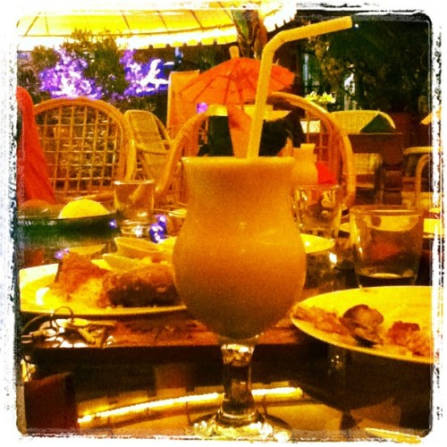 Banana shake. 🍧 (Taken with Instagram at Deep Forest Garden Inn)