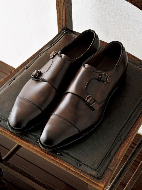 iqfashion:  Miyagi Kogyo double monks. Source: Men's Ex