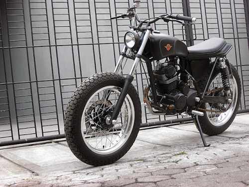"""14th Attempt"" A great custom bike by Daritz Design from Java Indonesia. India and Indonesia are producing customisers that are bringing some new ideas to the table.  This started off as a stock Honda GL200. Not much info on the Daritz site but in searching for the bike I found it appeared on the infamous Bikermetric blog (check it out) with a whole lot more pics. Thanks Trent ya bastard. :)  Like us on FB"