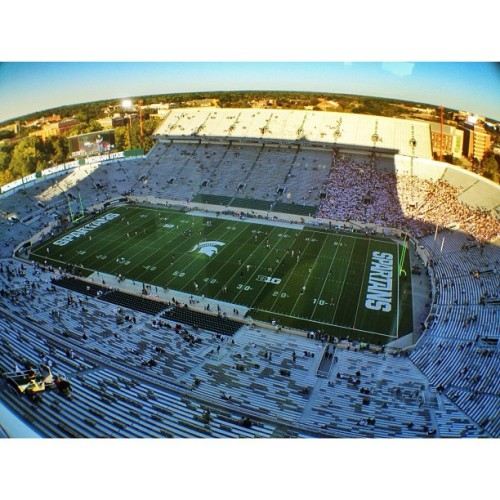 Spartan Stadium #iphone #prohdr #snapseed #olloclip #football #msu #spartan #latergram (Taken with Instagram at Spartan Stadium)