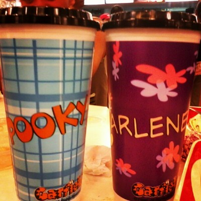 Pooky and Arlene #kfc #tumbler (Taken with Instagram)