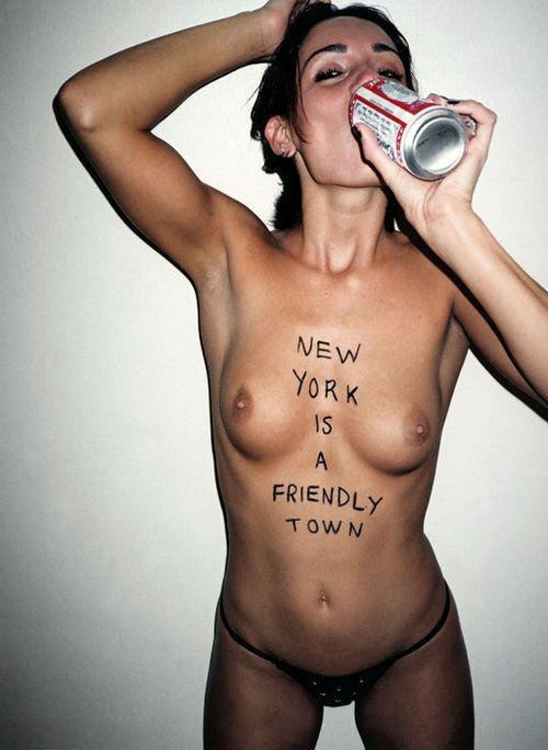 Show me your town is even friendlier! Submit your photo topless and drinking a beer!
