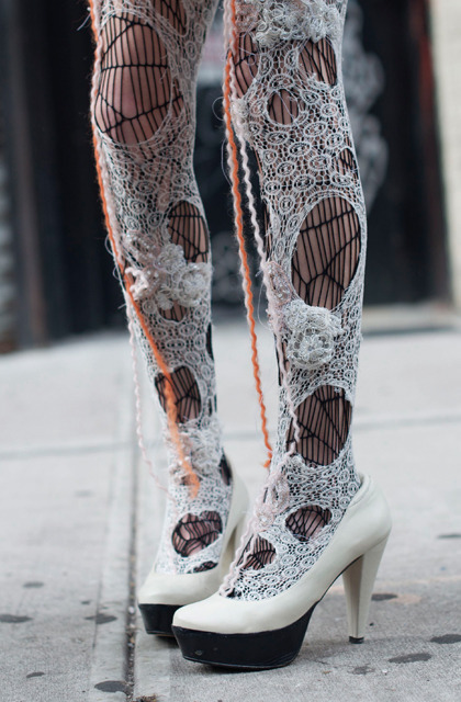 halloweencrafts:  DIY Rodarte Inspired Tights from Cocorosa here. Or really great  tights to finish off a costume. *First seen at Outsapop here.