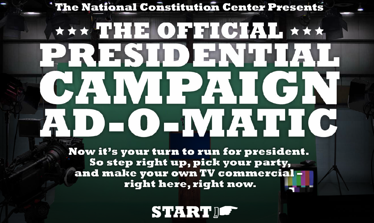 Make Your Own (humorous) Presidential TV Commercial online! #sschat #election2012 Via @teachernyla This would be a great attention grabber for a lesson on elections! Add your own face. The kids will love it.  Students will also enjoy creating their own commercials. These could be used as writing prompts, discussion starters, etc. I had a lot of laughs watching the Presidential TV Commercial I created below. You can embed or email your finished product.  Screenshot below  Included in  U.S. Presidents for Kids (This binder is overflowing with great resources!) You may also like… The Living Room Candidate Have Fun With History America Celebrates Dynamite Presidents Lessons on American Presidents
