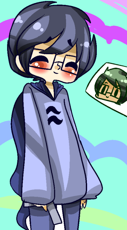 pura-pop:  Art Trade with 9aia I hope this is alright ;a;jskka  awww omg